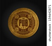 retro styled label of beer.... | Shutterstock .eps vector #154642871