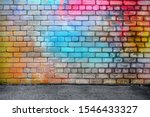 Colorful Brick Wall Interior ...