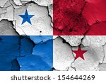 flag of panama painted on... | Shutterstock . vector #154644269
