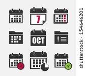 calendar icons set | Shutterstock .eps vector #154646201