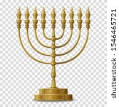 Gold Colored Hanukkah Menorah ...