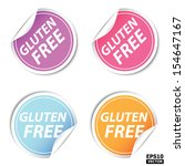 colorful gluten free stickers...   Shutterstock .eps vector #154647167