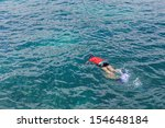 snorkeling to see coral and...   Shutterstock . vector #154648184