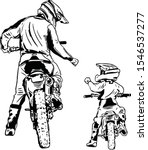 vector art drawing dad and son... | Shutterstock .eps vector #1546537277