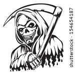 tattoo design of a grim reaper... | Shutterstock .eps vector #154654187