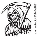 tattoo design of a grim reaper... | Shutterstock .eps vector #154654187