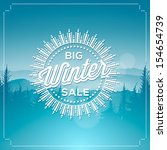 big winter sale poster  vector... | Shutterstock .eps vector #154654739