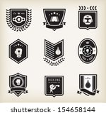 vector boxing icons | Shutterstock .eps vector #154658144