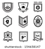 vector boxing icons   Shutterstock .eps vector #154658147
