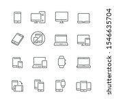 mobile devices related icons ... | Shutterstock .eps vector #1546635704