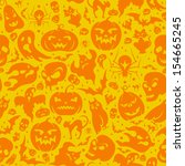halloween seamless pattern with ... | Shutterstock .eps vector #154665245