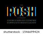 modern font design  vibrant... | Shutterstock .eps vector #1546699424