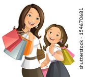 shopping day | Shutterstock .eps vector #154670681