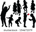 children collection   vector | Shutterstock .eps vector #154672379