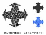 directions mosaic of round dots ...   Shutterstock .eps vector #1546744544