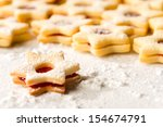 christmas cookie stars fresh... | Shutterstock . vector #154674791