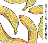 banana with tattoos seamless... | Shutterstock .eps vector #1546754231