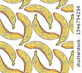 banana with tattoos seamless... | Shutterstock .eps vector #1546754234