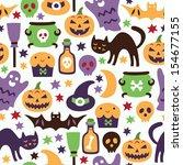 halloween seamless pattern | Shutterstock .eps vector #154677155