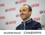 Small photo of Czestochowa/Poland-28 December 2018 press conference of Lotos Group S.A. with Robert Kubica and vice-chairman management of Lotos Group S.A. Jaroslaw Wittstock