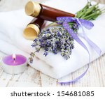 wellness products    candle ... | Shutterstock . vector #154681085