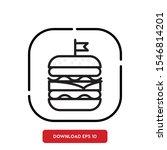 food symbol  hamburger outline...
