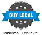 buy local blue label sign. buy... | Shutterstock .eps vector #1546828391