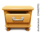 wooden drawer illustration | Shutterstock .eps vector #154682951