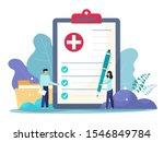 medical form  medical report....   Shutterstock .eps vector #1546849784