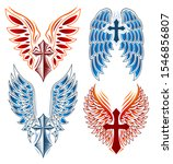 cross and wings vector set ... | Shutterstock .eps vector #1546856807