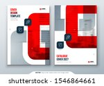 red catalog design. a4 cover... | Shutterstock .eps vector #1546864661