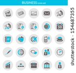 icons set about business. flat...