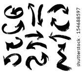 set of grunge arrows | Shutterstock . vector #154688597