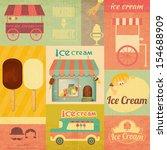 ice cream dessert vintage menu... | Shutterstock . vector #154688909