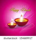 abstract dewali card design... | Shutterstock .eps vector #154689917