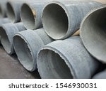 pile of asbestos cement pipes ...   Shutterstock . vector #1546930031