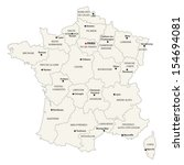 france administrative map | Shutterstock .eps vector #154694081