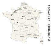 france administrative map | Shutterstock .eps vector #154694081