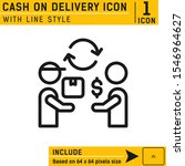 cash on delivery icon with line ...