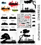 collection of silhouettes of... | Shutterstock .eps vector #154698131