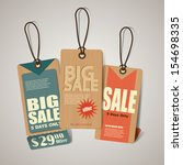 vintage style sale tags design  | Shutterstock .eps vector #154698335