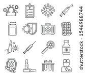 medical immunization icons set. ... | Shutterstock .eps vector #1546988744