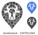 cow map marker mosaic of round... | Shutterstock .eps vector #1547011364