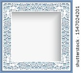 square photo frame with crochet ... | Shutterstock . vector #1547024201