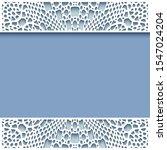 ornamental frame with crochet... | Shutterstock . vector #1547024204