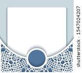 elegant background with crochet ... | Shutterstock . vector #1547024207
