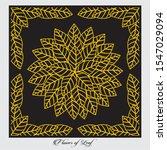 leaf pattern jali  cnc   mdf ... | Shutterstock .eps vector #1547029094