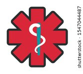 medical icons  outlined... | Shutterstock .eps vector #1547044487