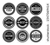 premium vintage badge design set | Shutterstock .eps vector #1547069414