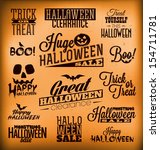 halloween calligraphic designs  ... | Shutterstock .eps vector #154711781
